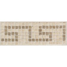 "Artistic Accent Statements 12"" x 4"" Greek Key Decorative Border in Sand/Walnut"