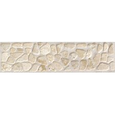 "Artistic Accent Statements 12"" x 3"" Pebble Decorative Border in Baja Cream"