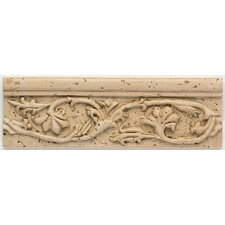 "Artistic Accent Statements 8"" x 2-1/2"" Garden Vine Accent Strip in Travertine"
