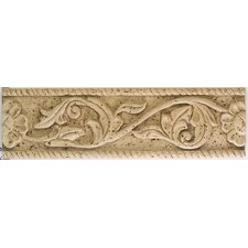 "Artistic Accent Statements 13"" x 3-3/4"" Flower and Vine Accent Strip in Travertine"