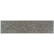 "Artistic Accent Statements Metal 12"" x 3"" English Ivy Decorative Border in Vintage Pewter"