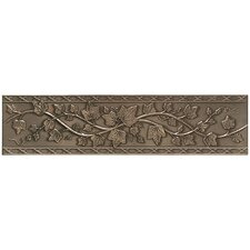 "<strong>Mohawk Flooring</strong> Artistic Accent Statements Metal 12"" x 3"" English Ivy Decorative Border in Vintage Bronze"