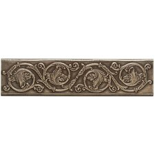 "Artistic Accent Statements Metal 12"" x 3"" Scrolling Leaf Decorative Border in Vintage Bronze"