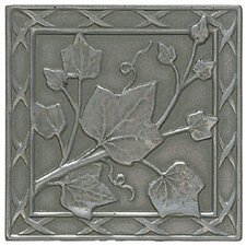 "Artistic Accent Statements Metal 3"" x 3"" English Ivy Decorative Corner/Insert in Vintage Pewter"