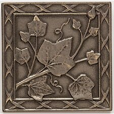 "Artistic Accent Statements Metal 3"" x 3"" English Ivy Decorative Corner/Insert in Vintage Bronze"