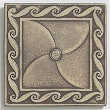 "Artistic Accent Statements Metal 3"" x 3"" Scrollwork Decorative Corner/Insert in Vintage Bronze"