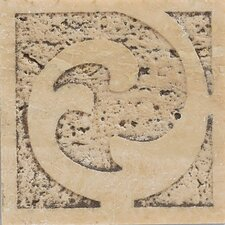 "Natural Bella Rocca 3"" x 3"" Sandblasted Decorative Accent Insert"
