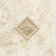 "<strong>Mohawk Flooring</strong> Natural Ristano 12"" x 9"" Decorative Accent Wall Tile in Bianco"