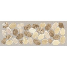 "<strong>Mohawk Flooring</strong> Rustic Riverstone 12"" x 4"" Pebble Decorative Border in Adobe"