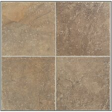 Rustic Egyptian Porcelain Glazed Floor Tile in Cairo Brown