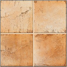 "Quarry Stone 4"" x 4"" Floor Tile in Amber"