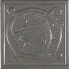 "Artistic Accent Statements Metal 3"" x 3"" Scrolling Leaf Decorative Corner/Insert in Vintage Pewter"
