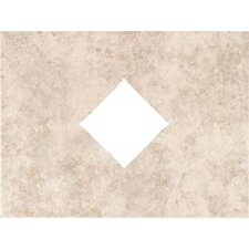 "Natural Bella Rocca 12"" x 9"" Decorative Diamond Cut-Out Tile in Venetian White"