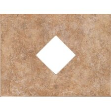 "Natural Bella Rocca 12"" x 9"" Decorative Diamond Cut-Out Tile in Etruscan Gold"