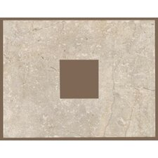 "Rustic Egyptian Stone 13"" x 10"" Decorative Square Cut-Out Tile in Ramses White"