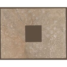 "Rustic Egyptian Stone 13"" x 10"" Decorative Square Cut-Out Tile in Cairo Brown"