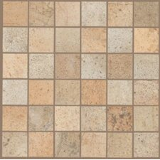 """Natural 2"""" x 2"""" Sardara Mosaic Tile in Cathedral Beige/Piazza Gold Blend"""