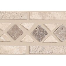 "<strong>Mohawk Flooring</strong> Artistic Accent Statements 11-1/2"" x 2-1/2"" Diamond Decorative Border in Beige/Mocha"