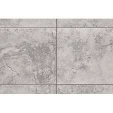 "Natural Bucaro 13"" x 3"" Bullnose Tile Trim in Grigio/Blu"