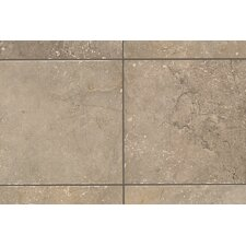 "Rustic Egyptian Stone 13"" x 3"" Bullnose Tile Trim in Cairo Brown"