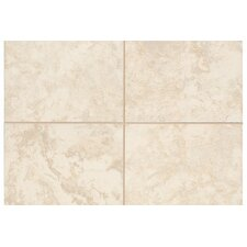 "Pavin Stone 6"" x 1"" Quarter Round Tile Trim in White Linen"