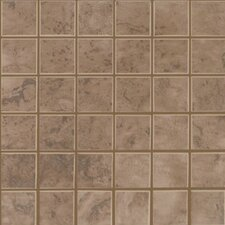 "Natural Pavin Stone 2"" x 2"" Ceramic Mosaic in Brown Suede"
