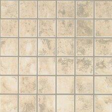 Pavin Stone Mosaic Tile in White Linen