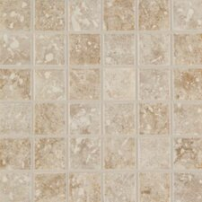 "Steppington 2"" x 2"" Decorative Mosaic in Baronial Beige and Traditional Taupe Blend"