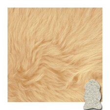 Autum Champagne Gold Star Longwool Area Rug