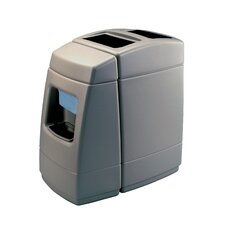 Islander Series Haven 1 55 Gallon Waste with 1 Sided Windshield Center