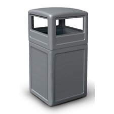38 Gallon Square Waste Container with Dome Lid
