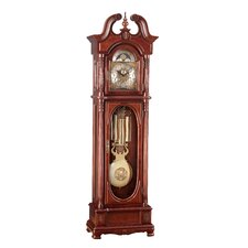 Half Turned Fluted Grandfather Clock in Cherry
