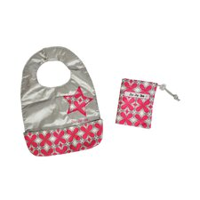 Be Neat Reversible Baby Bib in Pink Pinwheels