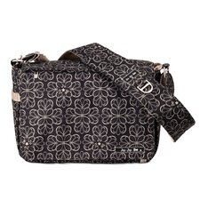 Be All Messenger Diaper Bag in Licorice Twirl