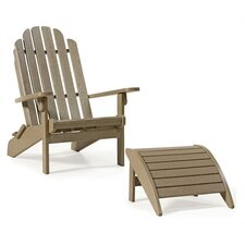 Bayfront Folding Adirondack Chair and Ottoman