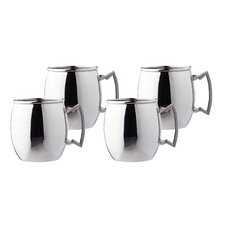 """Steelii"" Stainless Steel 16 oz. Moscow Mule Mug (Set of 4)"