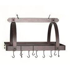 Decor Pot Rack with Grid and Hooks