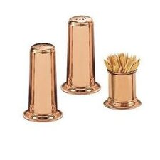 <strong>Old Dutch International</strong> Solid Copper Salt & Pepper Set with Toothpick Holder