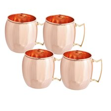 16 Oz. Solid Copper Moscow Mule Mug (NL, UL, CB) (Set of 4)