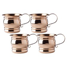 Moscow Mule 16 oz. Mug with Flat Handle (Set of 4)