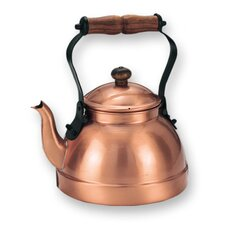 Decor Tea Kettle with Wood Handle
