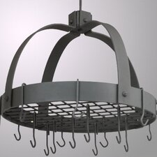 <strong>Old Dutch International</strong> Dome Decor Pot Rack with Grid and Hooks
