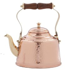 Copper 2-qt. Solid Hammered Tea Kettle