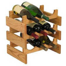 <strong>Wooden Mallet</strong> Dakota 9 Bottle Wine Rack
