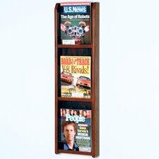 3 Pocket Magazine Wall Display