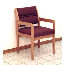 <strong>Wooden Mallet</strong> Valley Standard Leg Guest Chair with Designer Fabric