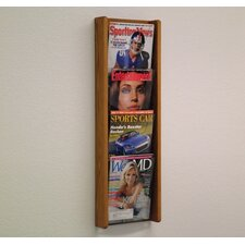 <strong>Wooden Mallet</strong> Four Pocket Acrylic and Oak Wall Display