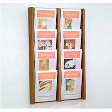 <strong>Wooden Mallet</strong> Eight Pocket Acrylic and Oak Wall Display