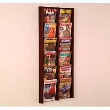 Twelve Pocket Acrylic and Oak Wall Display