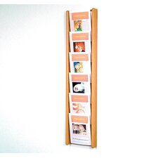 <strong>Wooden Mallet</strong> Six Pocket Acrylic and Oak Wall Display